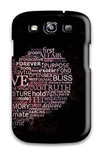 Hot VjXENkg2659mzbrW Words Of Love Tpu Case Cover Compatible With Galaxy S3