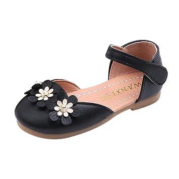 78e8602e04d65 Amazon.com: Cloudro Baby Sandals Toddler Girls Soft Flower Single ...