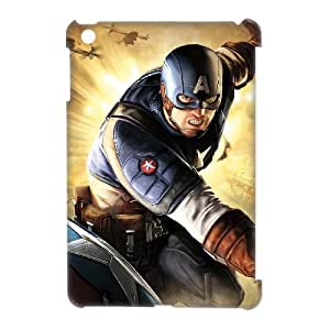 J-LV-F Captain America Pattern 3D Case for iPad Mini