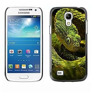 YOYO Slim PC / Aluminium Case Cover Armor Shell Portection //Cool Neon Green Snake //Samsung Galaxy S4 Mini
