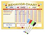 color behavior chart - Shic Magnetic Dry Erase Behavior Chore Chart with Marker for Kids, 11-Inch x 17-Inch