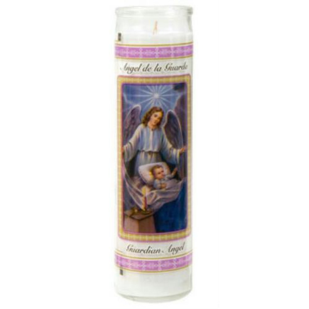 (Pack of 2) 8 Inch Devotional Unscented Candles (Guardian Angel)