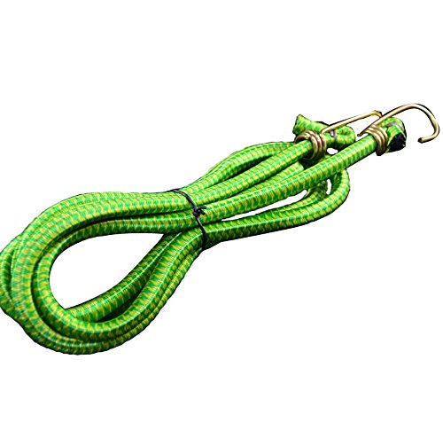 - PANDA SUPERSTORE Durable Bungee Cord Bicycle Luggage Tied Ropes Binding Yarn Rope (Green)