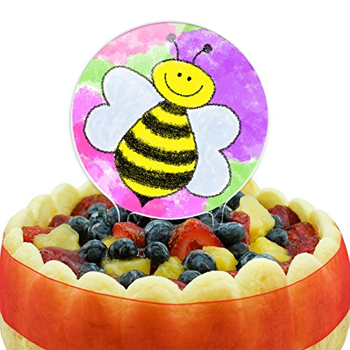 Busy As A Bee Watercolor Cake Top Topper