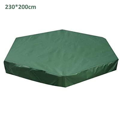 Activane Sandbox Cover Green Sandpit Cover with Drawstring Heavy Duty Table Cover Waterproof Dustproof Pool Cover for Outdoor Garden 3 Sizes: Home & Kitchen