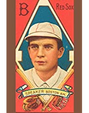 "Red Sox SPEAKER Boston A.M.: Tris Speaker: Vintage Baseball Player Card Art Journals: 6""x9"" (15.24cm x 22.86cm) 110 Pages MLB History Books To Write ... & Enthusiasts (Baseball Lovers Gift Ideas)"
