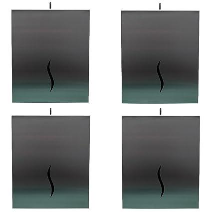4 Sana – Mundo® Dispensador de toallas de papel – Se puede cerrar – Acero