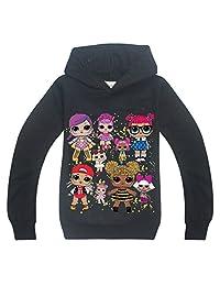 Wazonton Surprise Girls Hoodies Casual Long Sleeve Sweatshirt Sport Outwear with LOL Doll Girls