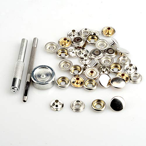 Eyelet 10 Pc Set Stud Stainless Steel Boat Canvas Snaps Cap Socket