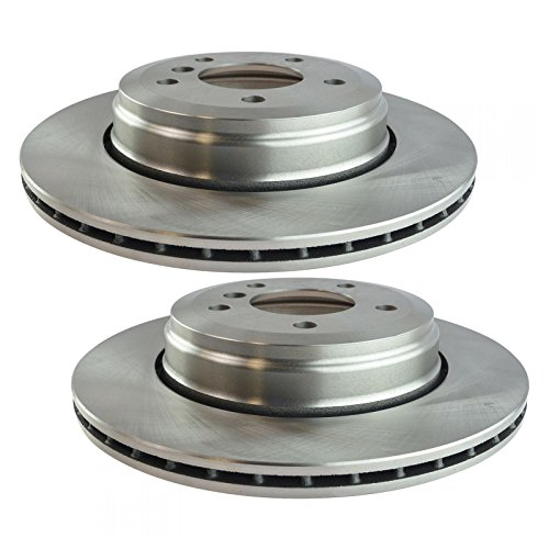 Disc Brake Rotor Driver & Passenger Side Rear Pair for BMW 525i 528i 530i