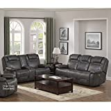 Traun Leather Air Power Recline and Headrest Sofa and Loveseat Set in Charcoal Review
