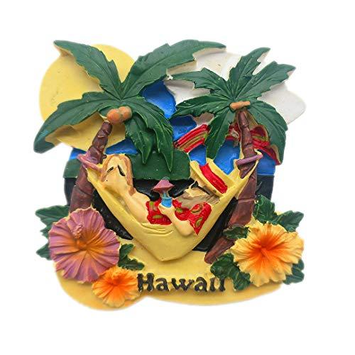 - USA Hawaii United States 3D Refrigerator Fridge Magnet Travel City Souvenir Collection Kitchen Decoration White Board Sticker Resin