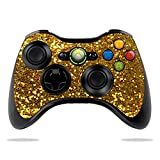 MightySkins Skin Compatible with Microsoft Xbox 360 Controller Case wrap Cover Sticker Skins Gold Glitter