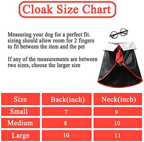 Impoosy Halloween Cat Costume Small Dog Wizard Pet Clothes Cute Apparel Puppy Shirts with Glasses 16
