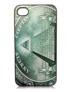 Illuminati New World Order Conspiracy iPhone 4/4s Slim Hard Plastic Snap on Bumper Case Black