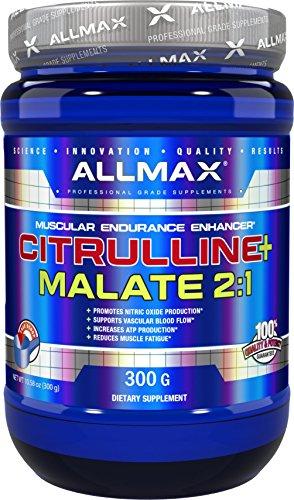 ALLMAX Nutrition Citrulline Malate 2 1 Powder, 300g