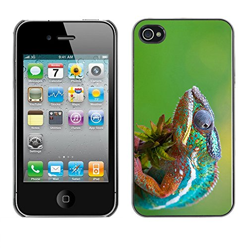 Omega Case PC Polycarbonate Cas Coque Drapeau - Apple iPhone 4 / 4S ( The Cool Chameleon 2 )