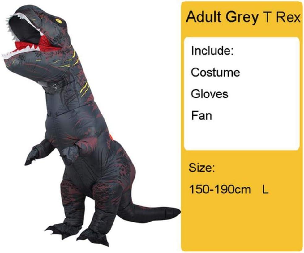 GAOXUQIANG Disfraz de Dinosaurio Inflable para niños Adultos T Rex ...