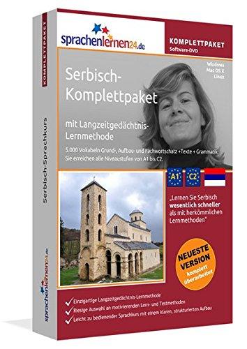 Serbisch-Komplettpaket: Lernstufen A1 bis C2. Fließend Serbisch lernen mit der Langzeitgedächtnis-Lernmethode. Sprachkurs-Software auf DVD für Windows/Linux/Mac OS X