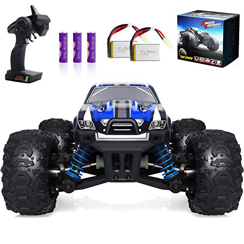 VCANNY Remote Control Car, Terrain RC Cars, Electric Remote Control Off Road Monster Truck, 1: 18 Scale 2.4Ghz Radio 4WD Fast 30+ mph RC Car, with 2 Rechargeable Batteries
