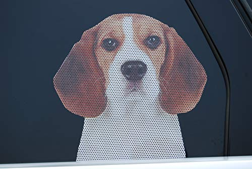 Doggie in the Window car and truck window dog decal - Beagle