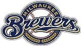 MLB Milwaukee Brewers 12-Inch Vinyl Logo Magnet