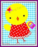 Cute baby print Children's Easter decor Kids Easter print Cute Girl nursery decor Cute Chick wall art Cute Kids Room decor Chicken wall art Toddler girls room decor
