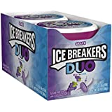 ICE BREAKERS Duo Sugar Free Mints, Grape, 1.3 Ounce (Pack of 8)
