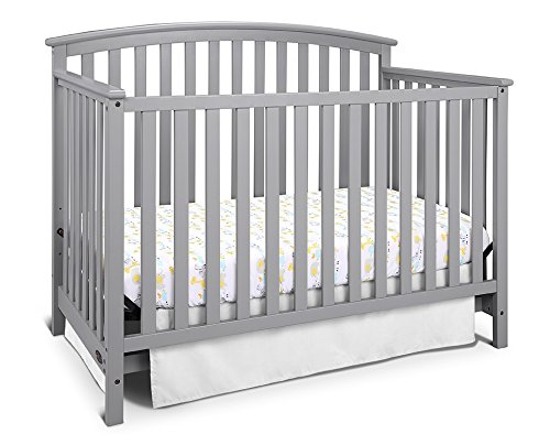 Graco Freeport 4-in-1 Convertible Crib, Pebble Gray