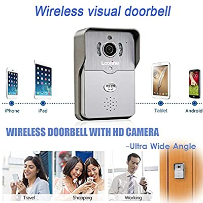 Looline Doorbell Camera Wi fi Home Security Video Door Bell 2-Way Audio Night Vision Remote View and Unlock 720P HD Network Visual Intercom