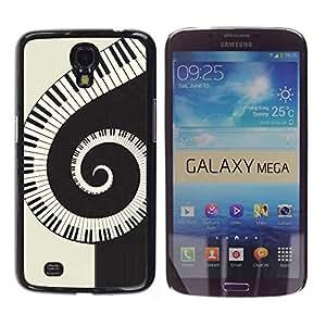 TopCaseStore / la caja del caucho duro de la cubierta de protección de la piel - Music Spiral Piano - Samsung Galaxy Mega 6.3 I9200 SGH-i527