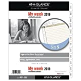 "AT-A-GLANCE 2019 Weekly Planner Refill, Day Runner, 8-1/2"" x 11"", Folio Size 5, Two Pages Per Week, Loose Leaf (491-285)"