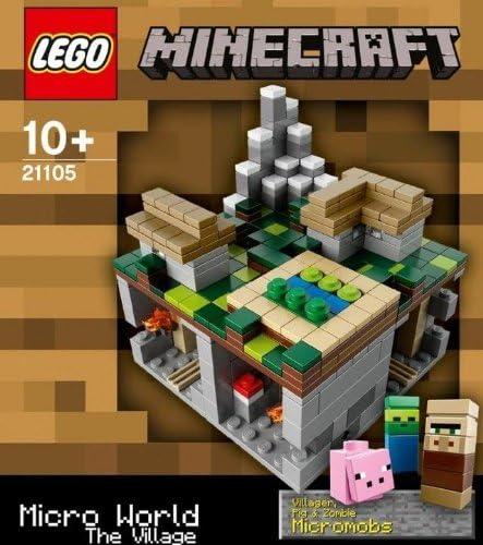 3 MINECRAFT LEGO SETS Forest Village Nether 21102 21105 21106 MICRO WORLD