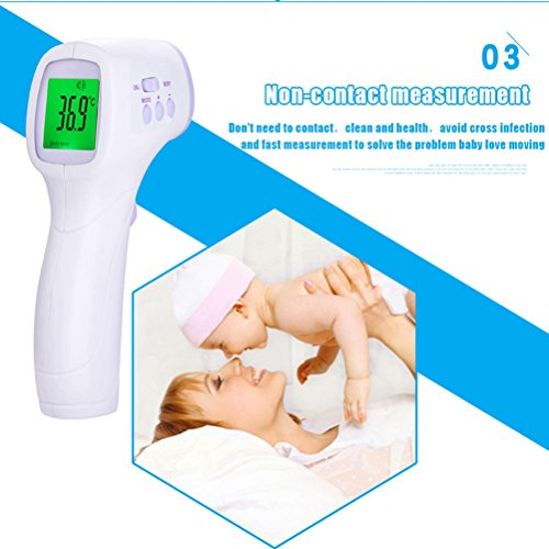 Digital Forehead Thermometer, Hang Rui Non Contact Accurate Dual Mode Infrared Thermometer for Baby Children and Adults