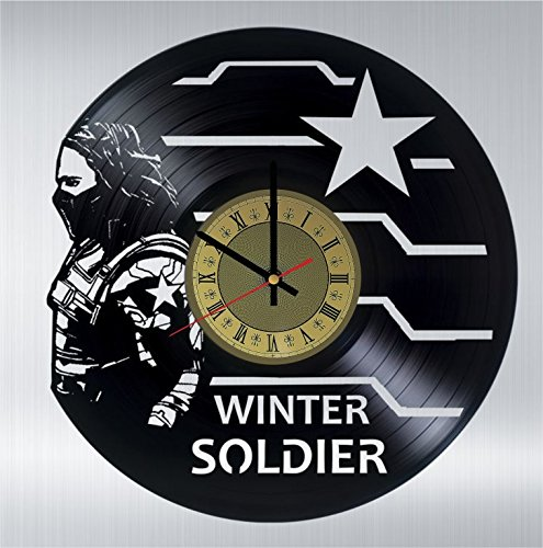 Bucky Barnes vinyl wall clock great gift for men, women, kids, girls and boys, birthday, christmas beautiful home decor - unique design that made out of vinyl LP record
