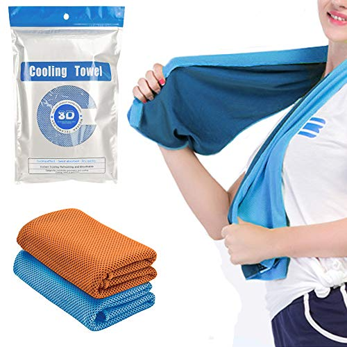 Suntapower Cooling Towel 2PCS, Cooling Scarf for Instant Cooling Headband...