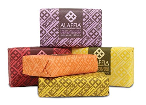 Alaffia Fair Trade Shea Butter Triple Milled Soap, 5 oz Bar 1 100% Fair Trade Ingredients Triple-Milled for Long Lasting Use No Synthetic Fragrance