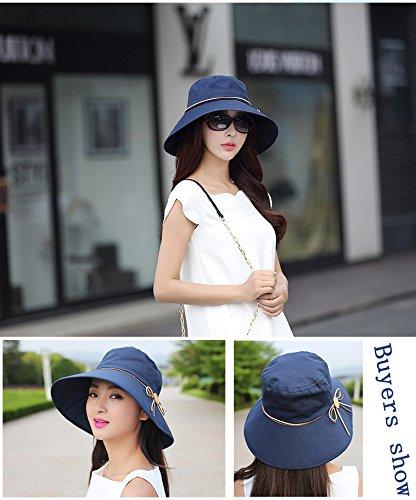 WITERY Women Ladies Summer Sun Hat Wide Brim Sun Hats Foldable Beach Hat Sun Visor Cloche UPF50 Cap UV Protection for Women Girl