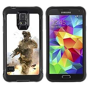 Suave TPU GEL Carcasa Funda Silicona Blando Estuche Caso de protección (para) Samsung Galaxy S5 V / CECELL Phone case / / Soldier Battle Field /