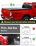 #7: Premium Tri-Fold Truck Bed Tonneau Cover 2005-2015 Toyota Tacoma   Fleetside 6' Bed   For models with or without the Deckrail System