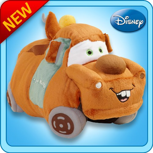 "Pillow Pets Authentic Disney-Cars 18"" Tow Mater,  Folding..."