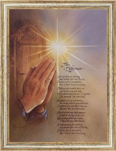 The Difference Poem By Alan Grant Christian Art Prayer Inspirational Decor Art Metallic Ink Print Mini Poster (6x8 Inch ()
