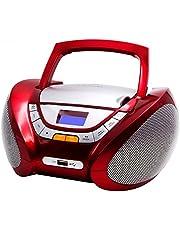 Lauson Lecteur CD   Radio Portable   USB   Radio Stéréo CD Lecteur MP3 pour Enfant   Chaîne stéréo   Prise Casque   Aux in - Écran LCD - Batterie et Alimentation électrique