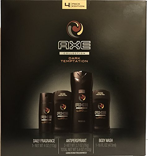 Axe For Men Gift Set - 2016 Collection - Dark Temptation - Gift Set Includes: 1x Daily Fragrance, 2x Antiperspirant, & 1x Body Wash - One Gift Set