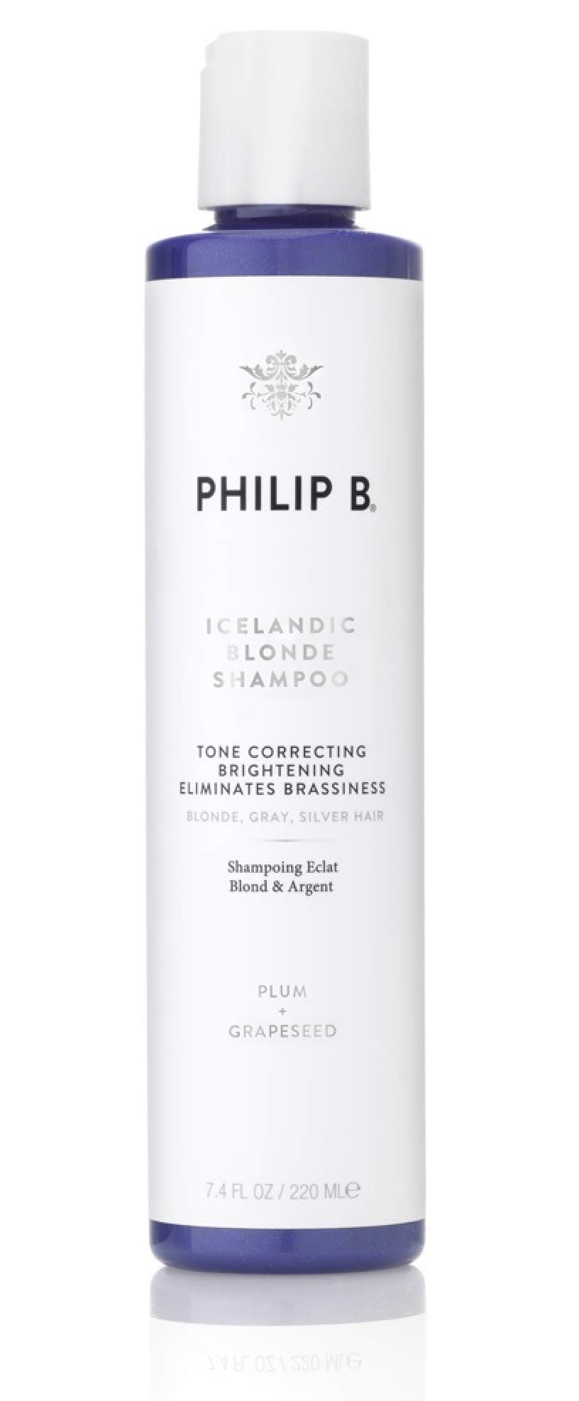 PHILIP B Icelandic Blonde Shampoo, Purple, Plum Extracts, 7.4 Fl. Oz. by PHILIP B.