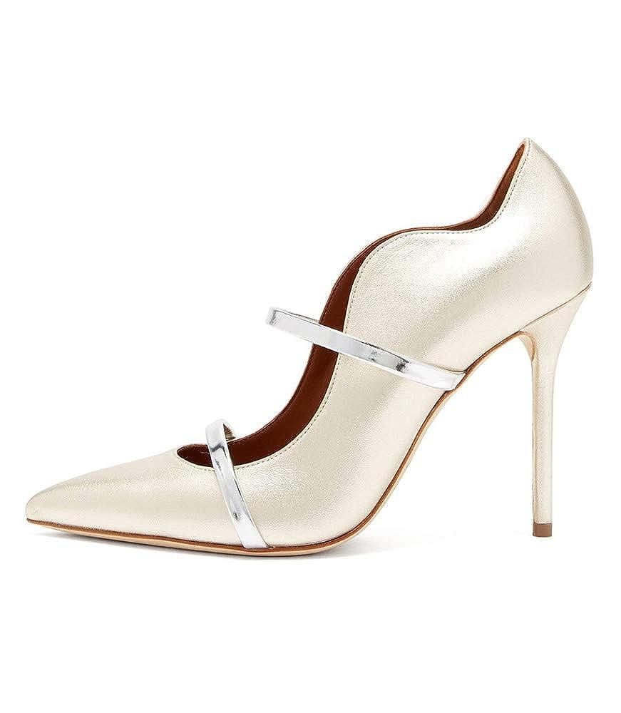 YOJDTD Chaussures Chaussures Chaussures pour Femmes Sandales Sandales à Talons Chaussures pour Femme seules, Blanc, 46  réductions incroyables