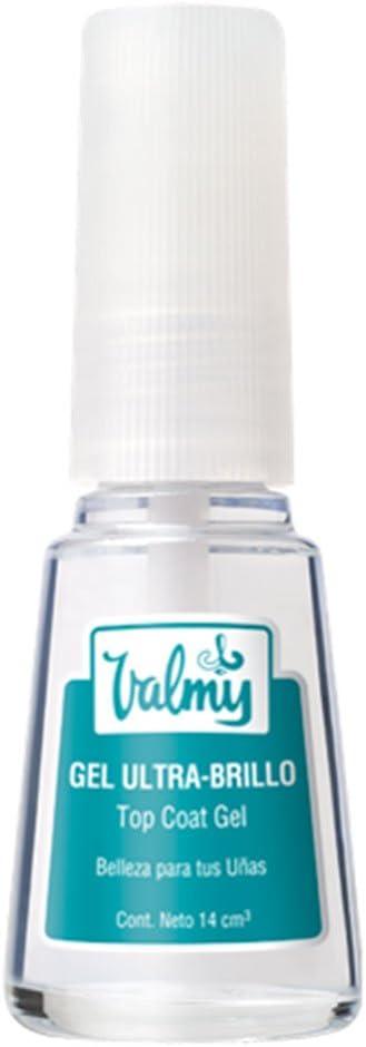 Valmy Gel Top Coat Ultra-Brillo – Tratamiento de Efecto Cristal para Uñas, 1 Unidad (1 x 14 ml)