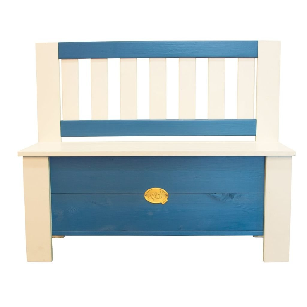 Axi House A031.041.00 - Storage Bench, Colore Blau, 96 x 37 x 79 cm
