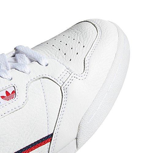 80 Weiß Sneaker adidas Navy Tennis Vintage Nostalgie Scarlet Männer für Continental White Sneakers gqEwxS6