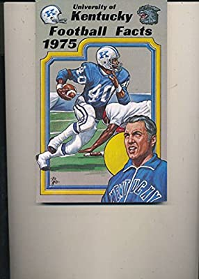 1975 Football University of Kentucky Press Media College Guide 136pgs bxcfg75